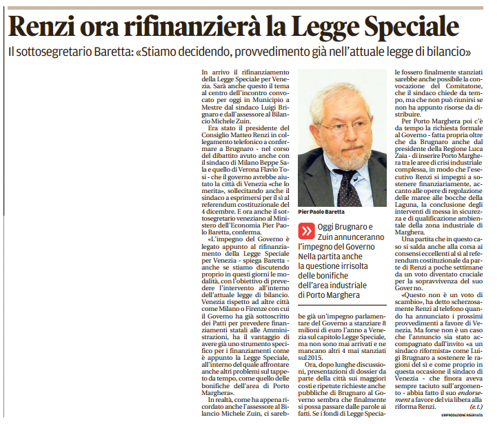 legge speciale venezia